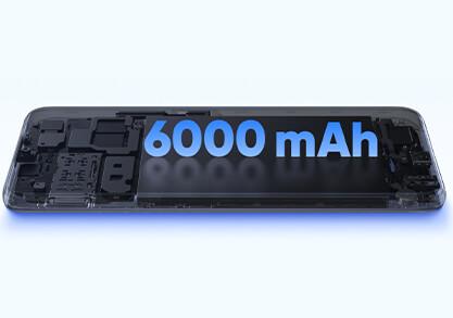 6000mAh Mega Battery, Up to 57 Days Standby*
